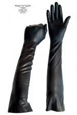 Gants longs BDSM en latex : Une paire de gants spécial jeux BDSM, fin et souples en latex, pour le look et les jeux de mains.