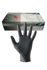 Gants latex chirurgicaux (x100) : 100 gants en latex noir pour jouer au docteur.