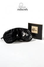 Blind Passion Mask : Masque rembourré en satin sensuel et élégant, pour jeux amoureux.