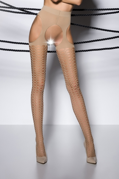 Collants ouverts TI004 - beige