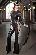 Déguisement Catwoman sexy : Combinaison moulante, masque et fouet, transformez vous en justicière très sexy chargée de faire régner la (votre) loi.