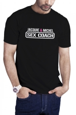 T-shirt Sex Coach noir - Jacquie et Michel