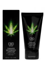 Lubrifiant CBD Eau Cannabis 50ml : Lubrifiant intime à base d'eau et de CBD, avec effet relaxant, longue durée et fort pouvoir de lubrification, tube de 50 ml.