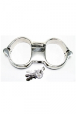 Menottes Turbo High Security : Menottes de poignets haute qualité et haute sécurité, en acier inoxydable.