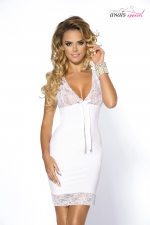 Nuisette colette - Anaïs : Simple mais terriblement glamour, cette nuisette en satin blanc est fabriquée en Europe par la marque Anaïs Lingerie.