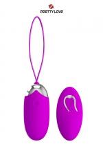 Oeuf vibrant Pretty Love Berger : Oeuf vibrant en silicone avec télécommande sans fil, 12 modes de vibrations, par la marque Pretty Love.