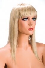 Perruque Allison blonde : Perruque blonde longue et à frange effilée pour changer de look.