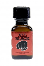 Poppers All Black 24ml : le poppers exclusif du fabricant de godes géants All Black,  basé sur la molécule historique à l'Isopropyle