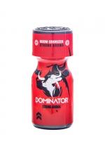 Poppers Red Dominator 10ml : Arôme aphrodisiaque ultra puissant au Nitrite d'Amyle, fabriqué en France par le laboratoire Jolt (flacon de 10 ml).