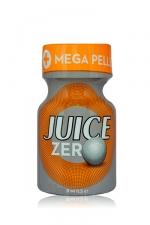 Poppers Juice zéro 9 ml : Poppers hybride pour des sensations max et confort accru avec fermeture  Mega Pellet, en petit flacon de 9 ml.