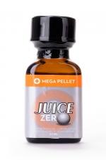 Poppers Juice zéro 24 ml : Poppers hybride pour des sensations max et confort accru avec fermeture Mega Pellet.